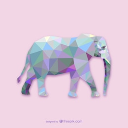 Triangle elephant design