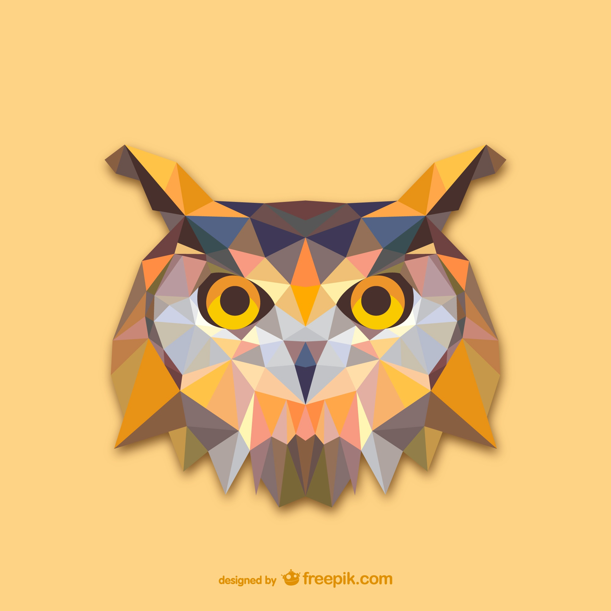 Triangle owl design