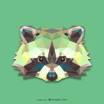 Triangle raccoon design