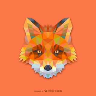 Triangle red fox design