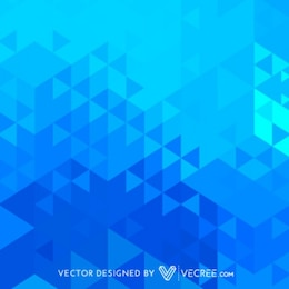 Triangles background in blue tones