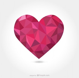 Triangular vector heart shape