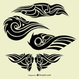Tribal abstract tattoos collection