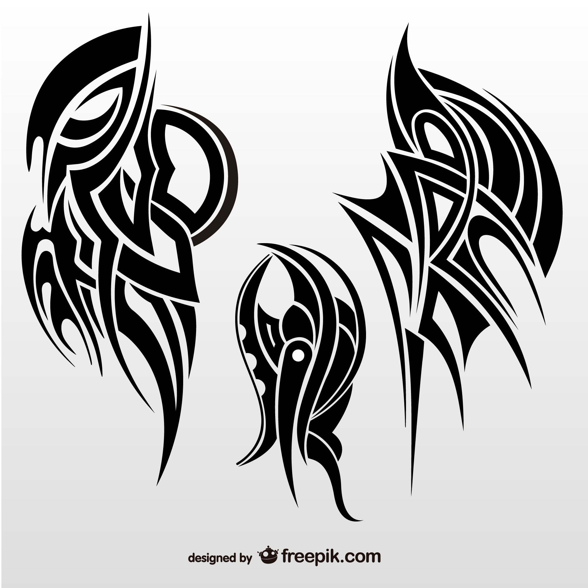Tribal abstract wings vector collection