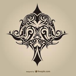 Tribal asbtract tattoo vector design