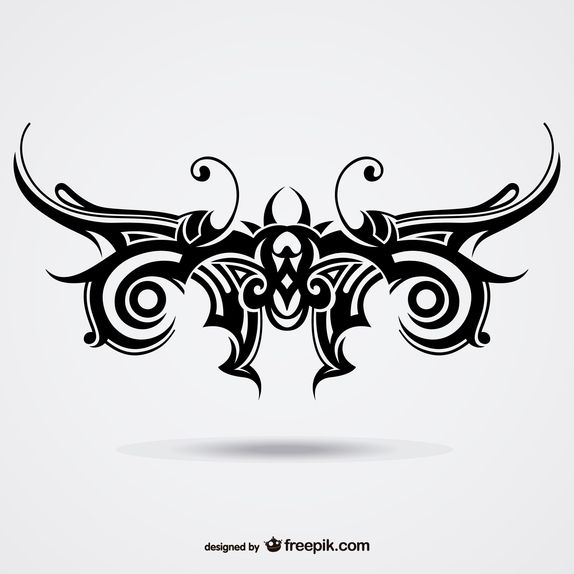 Tribal butterfly vector tattoo