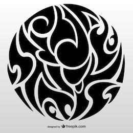 Tribal circle tattoo art