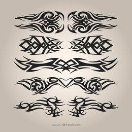 Tribal tattoos set