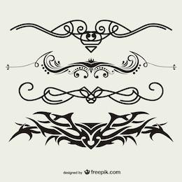 Tribal tattoos vector set