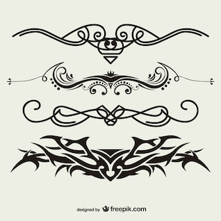 Tribal tattoos vector set