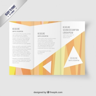 Trifold brochure in abstract style