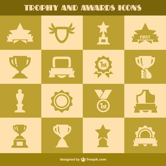 Trophy and awards icons