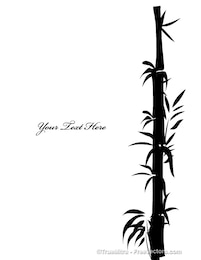 Tropical bamboo tree silhouettes
