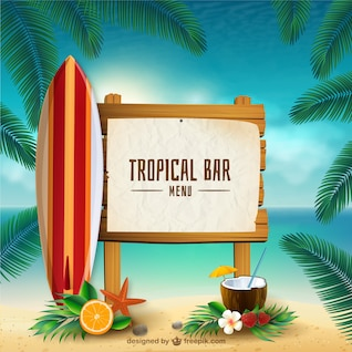 Tropical bar sign