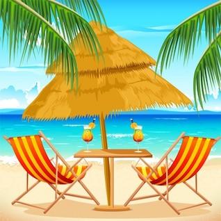 Tropical beach getaway summer background