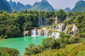 Tropical jungle asian beautiful countryside