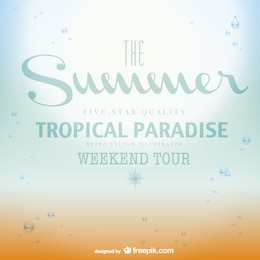 Tropical paradise summer poster
