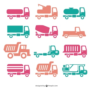 Truck icon vectors
