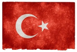 turkey grunge flag  retro