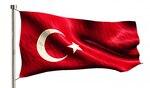 Turkey National Flag Isolated 3D White Background