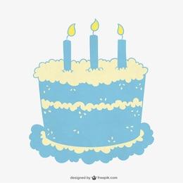 Turquoise Birthday cake