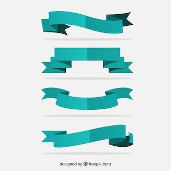 Turquoise retro ribbons