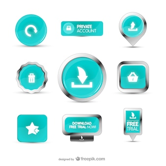 Turquoise web buttons