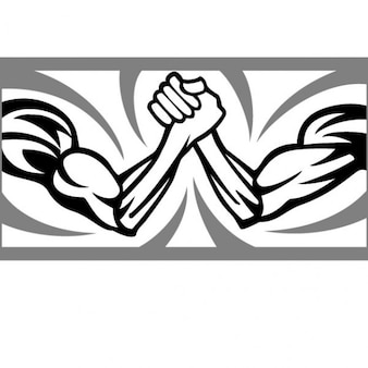 Two arms of a wrestling match