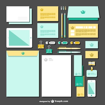 Two colors branding vector pack