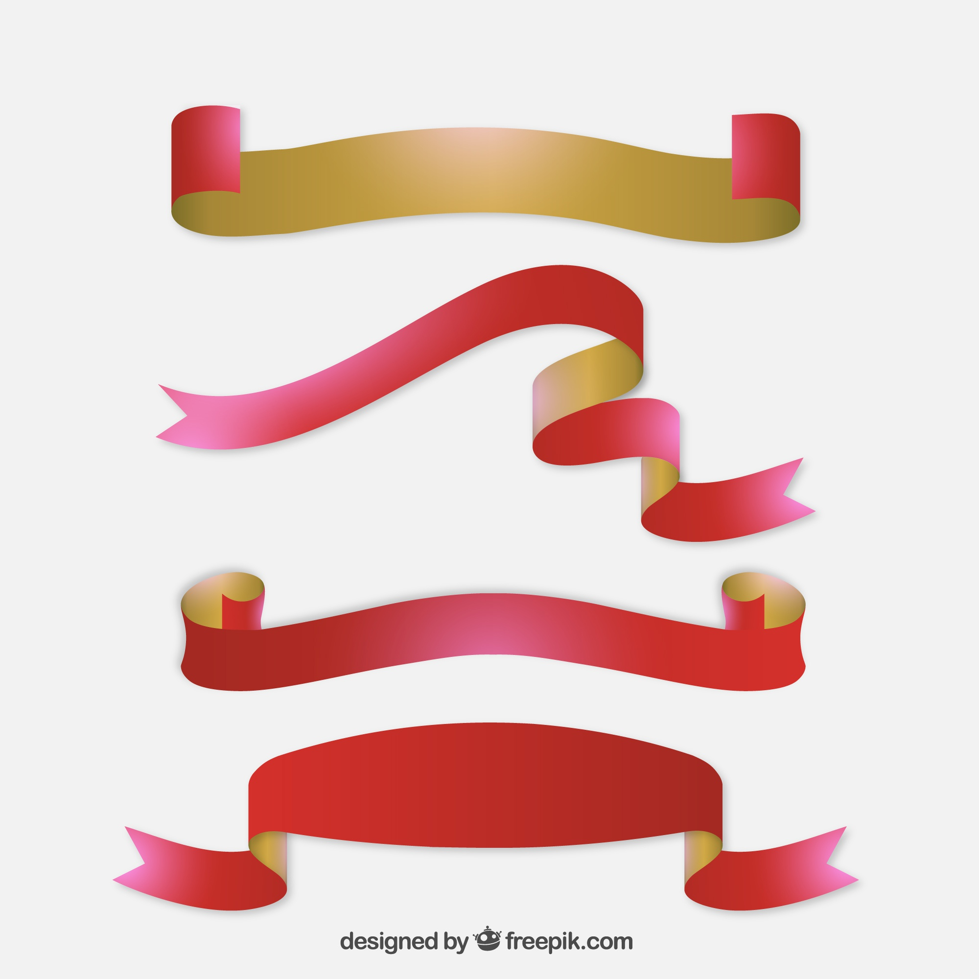 Two colors Christmas ribbons