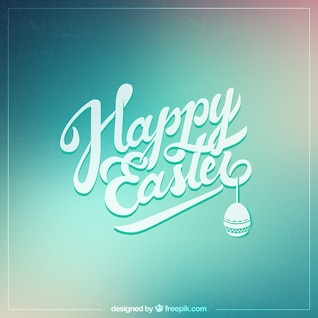 Typographical easter card
