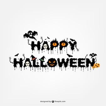 Typography halloween logo design
