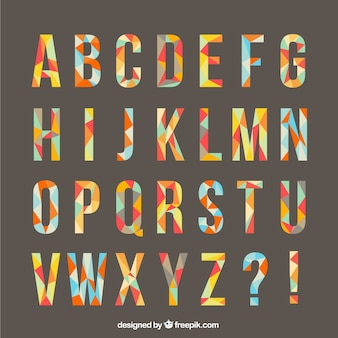 Alphabet Made From Polygons