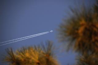 Ultra High Flyover at Dusk