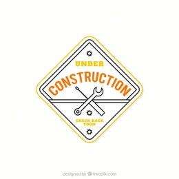 Under construction badge