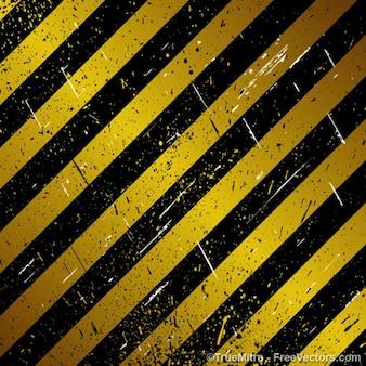 Under construction striped lanes