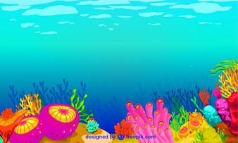 Underwater vector graphics