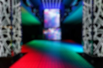 Unfocused entry disco colors