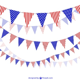 United States celebration garlands vector