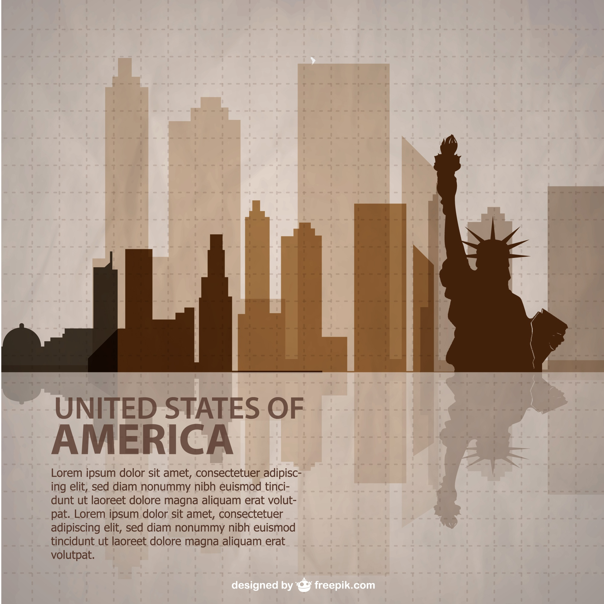 United States vector template