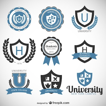 University and college badges