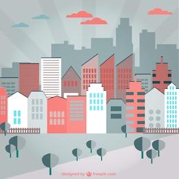 urban colorfull background vector art