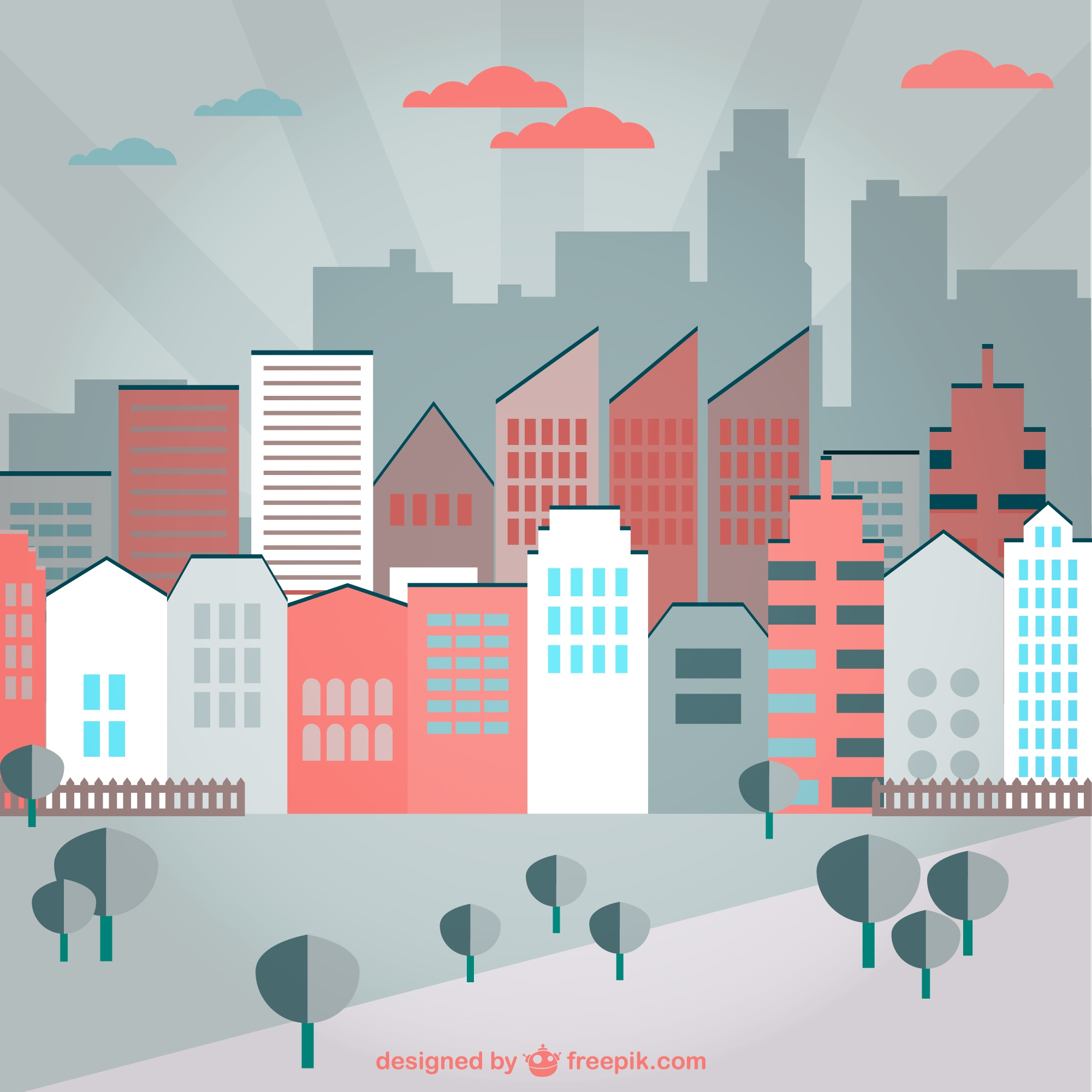 urban colorfull background vector art