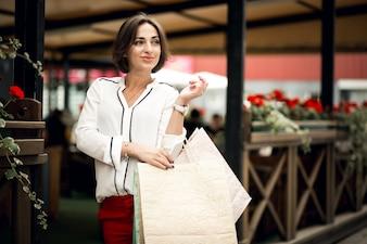 都市生活袋顧客販売白