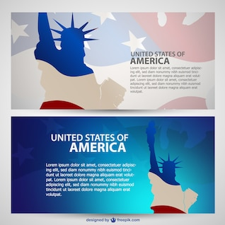 USA banners vector pack