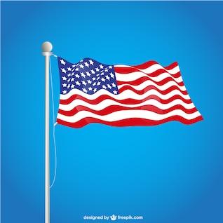 USA flag free vector