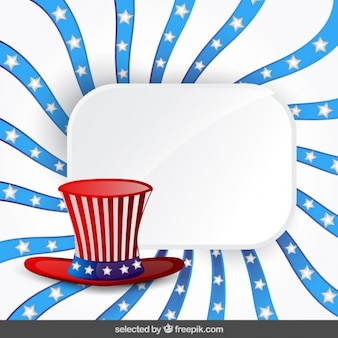 USA independence day background with hat