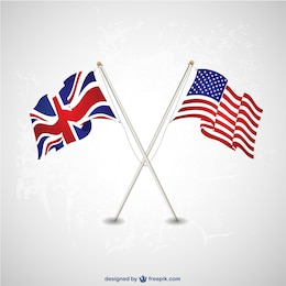 USA UK flags template