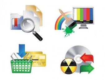 useful stylish web icon illustrator vector