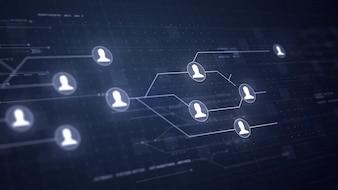 ユーザ関係者ネットワーク回路基板リンク接続技術